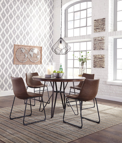 Centiar - 2 Tone Brown - Table/4 Chairs