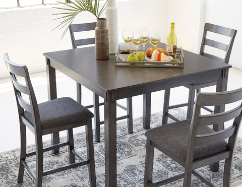Bridson - Grey - Counter Table/4 Stools