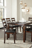 Coviar - Brown - Table/4 Chairs/Bench