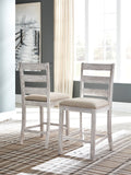 Skempton - White/Light Brown - Table/6 Chairs