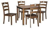 Hazelteen - Medium Brown - Table/4 Chairs