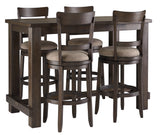 Drewing - Brown - Pub Table/4 Stools