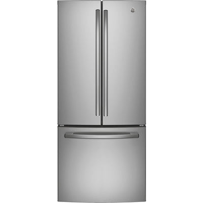GE 20.8 cu. ft. French Door Bottom-Mount Refrigerator - Stainless Steel