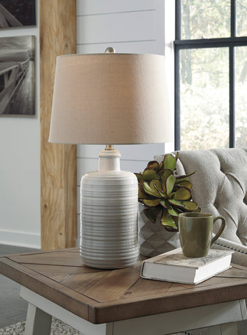 Marnina - Taupe - Ceramic Table Lamp