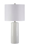 Steuben - White - Ceramic Table Lamp Set