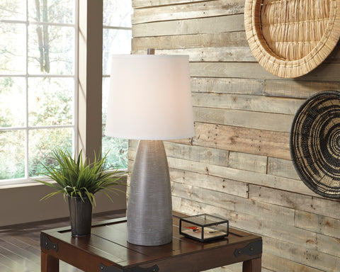 Shavontae - Gray - Poly Table Lamp Set