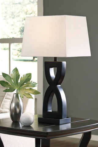 Amasai - Black - Poly Table Lamp Set