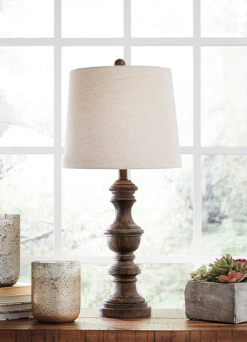 Magaly - Brown - Poly Table Lamp Set