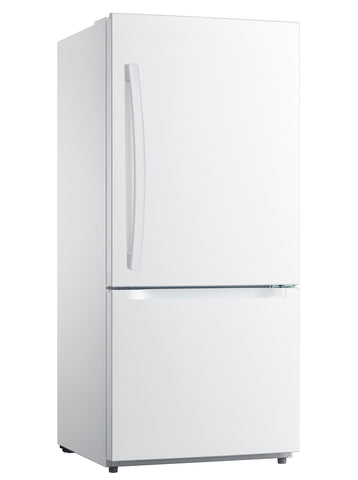 "Moffat 30"" 18.6 Cu. Ft. Bottom Freezer Refrigerator with LED Lighting - White"