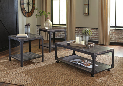 Jandoree - Brown/Black - Occasional Table Set
