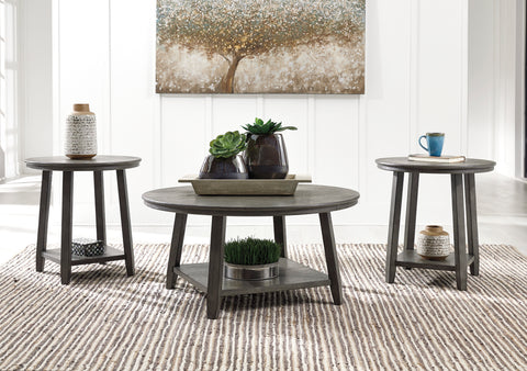 Caitbrook - Gray - Occasional Table Set