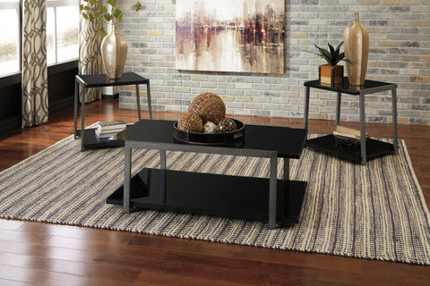 Rollynx - Black - Occasional Table Set