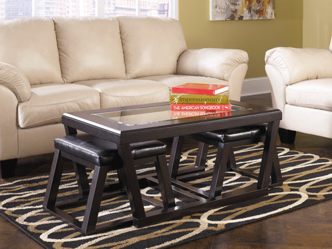 Kelton - Espresso - Coffee Table/2 Stools