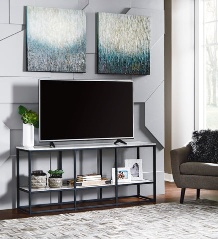 Donnesta - Black/Grey - Extra Large TV Stand