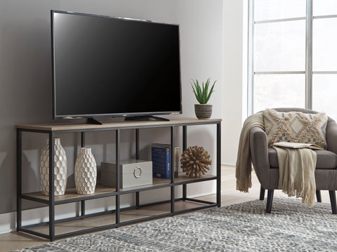 Wadeworth - Black/Brown - Extra Large TV Stand