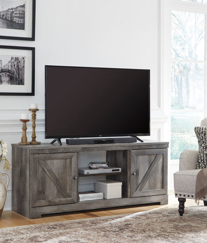 Wynnlow - Gray - LG TV Stand w/Fireplace Option