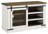 Wystfield - White/Brown - Medium TV Stand