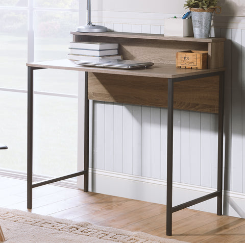 Titania - Light Brown/Gunmetal - Home Office Small Desk