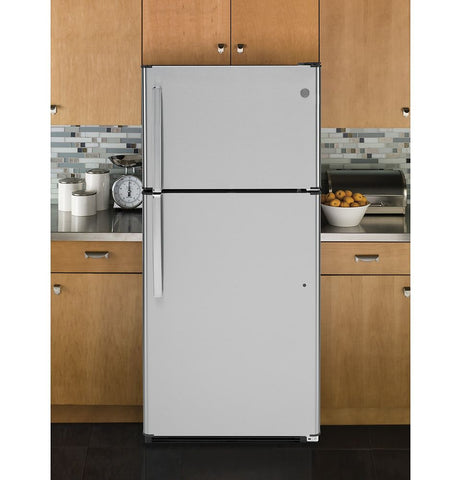GE 30-inch 18 cu. ft. Top Mount No Frost Refrigerator - Stainless Steel
