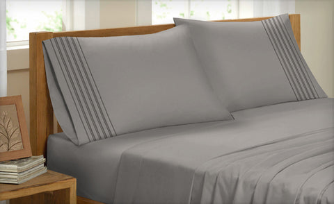 Twin Pleated 3 Piece Sheet Set