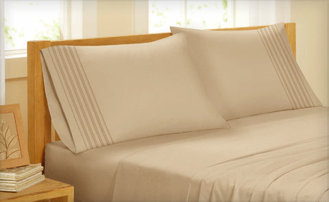 King Pleated 4 Piece Sheet Set