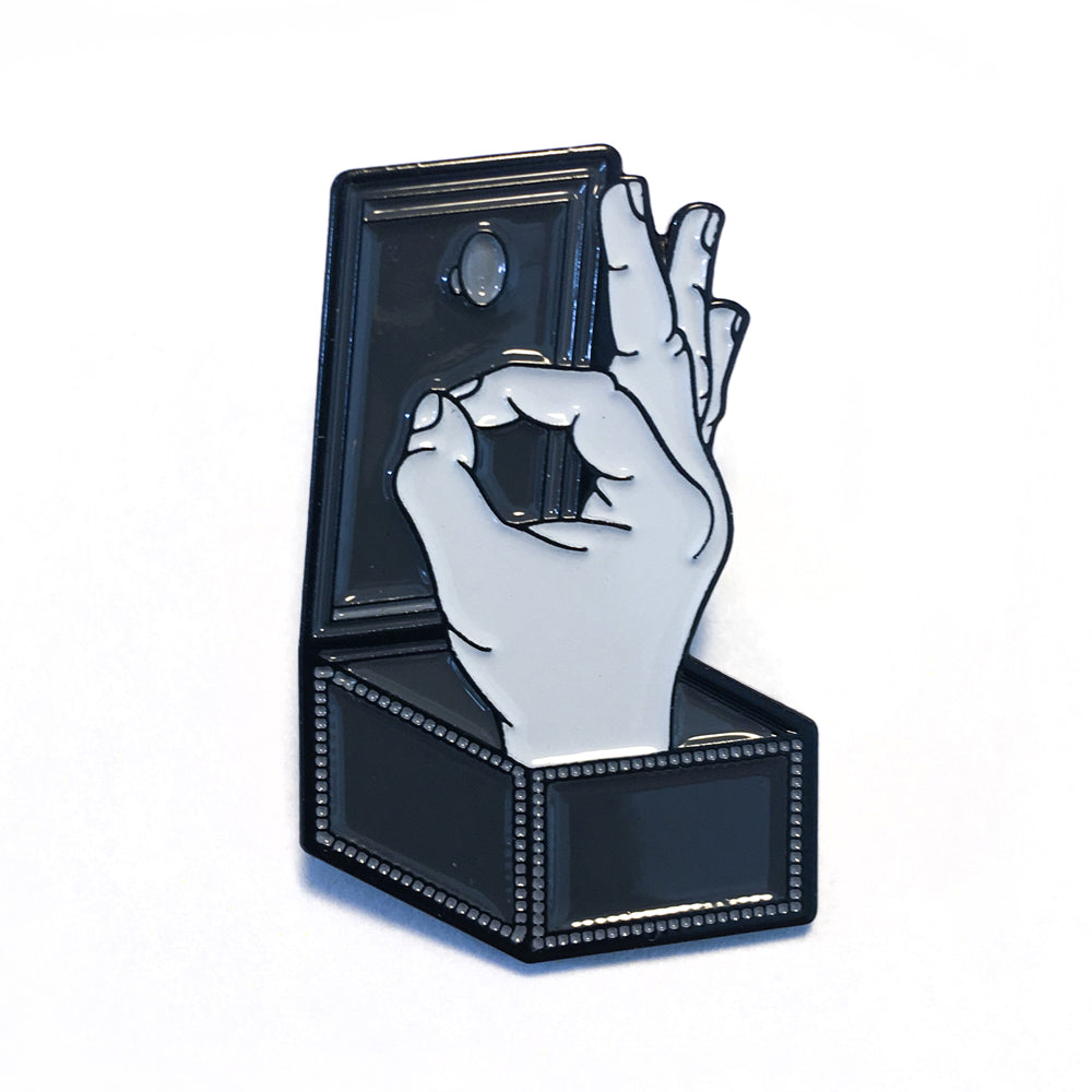 Addams Family Thing Lapel Pin
