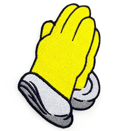Homer Simpson Praying Hands Patch