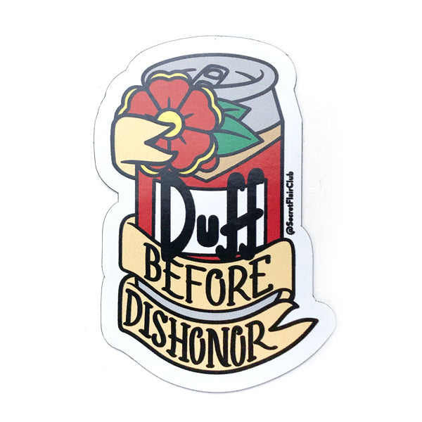 Duff Before Dishonor Magnet