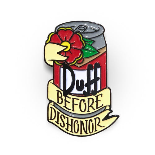 Duff Before Dishonor - Simpsons Lapel Pin
