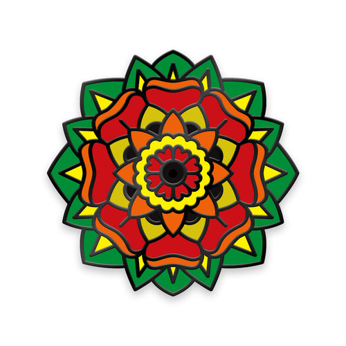 Autism Awareness Mandala Lapel Pin - @Kasper_Tattoos
