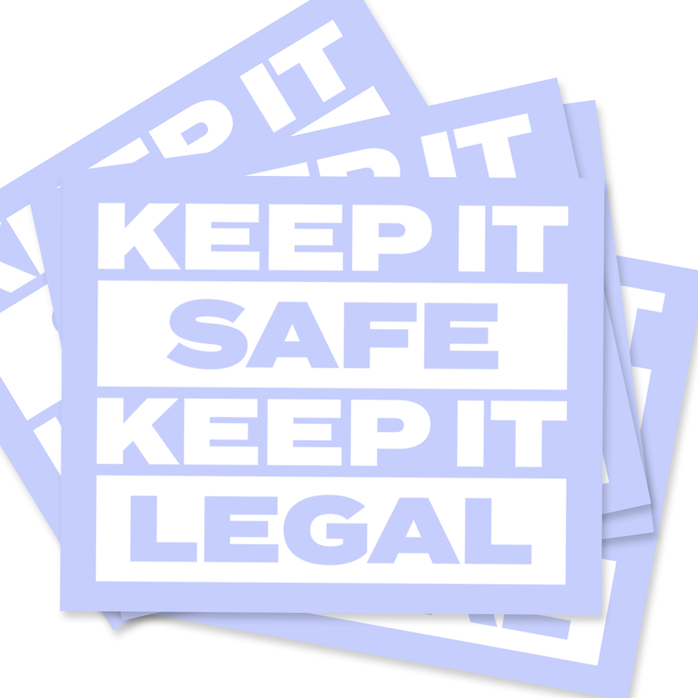 Keep It Safe Keep It Legal Sticker Packs