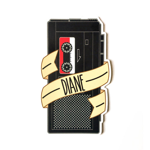 Twin Peaks - Diane Tape Recorder Sticker