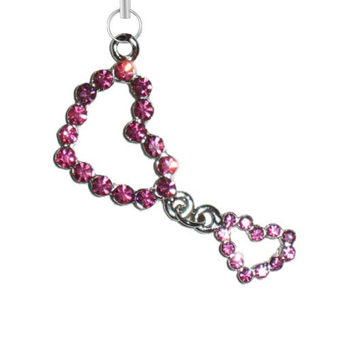 Double Pink Heart Charm - Charm14