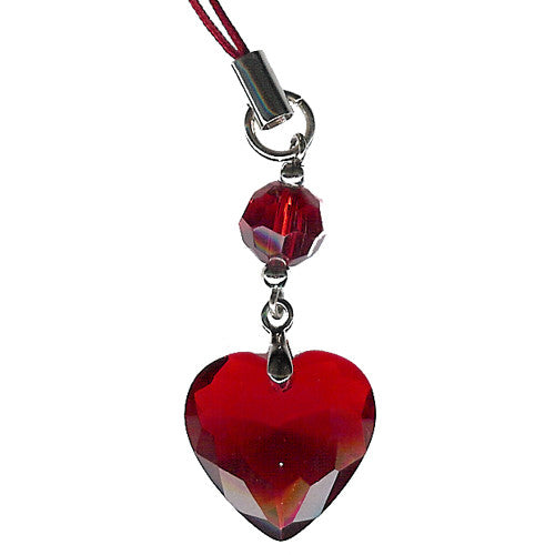 Light Siam Heart  Purse Charm - Charm14