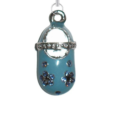 Baby Shoe Blue Purse Charm
