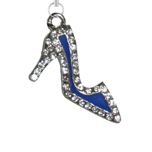 Blue Shoe w/ Clear Stones Charm - Charm14