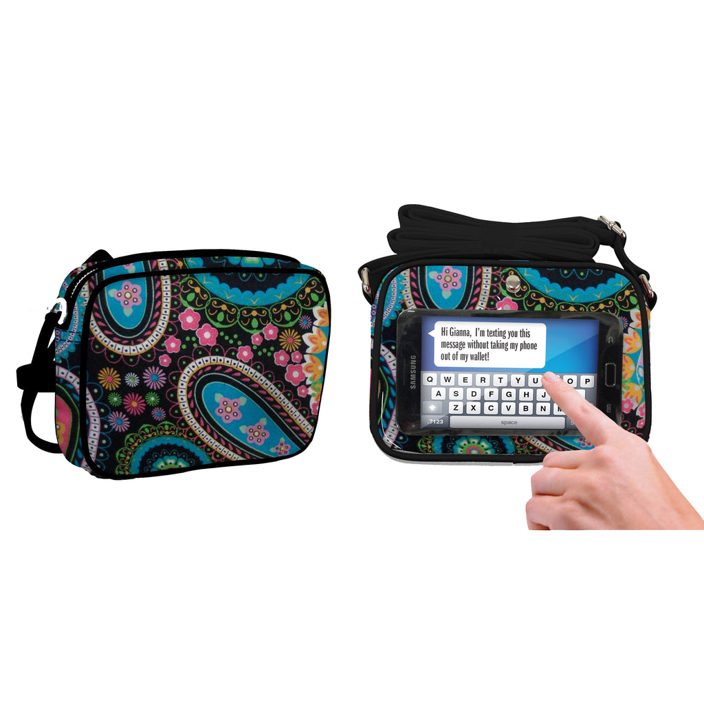 Paisley Multicolor Crossbody Bag - Charm14