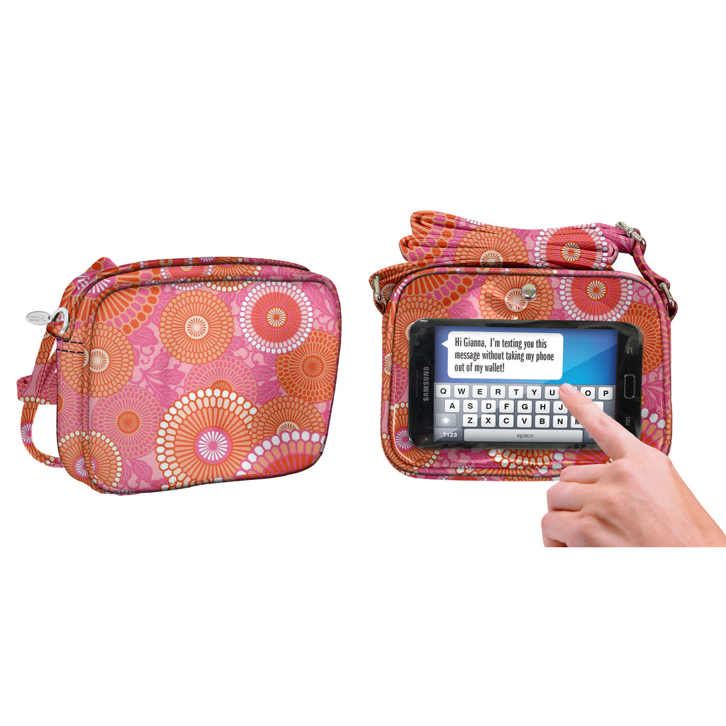 Kyoto Orange/Pink Crossbody Bag - Charm14
