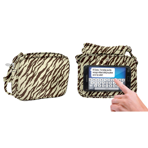 Zebra Natural Crossbody Bag - Charm14