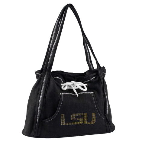 Louisiana State University Tigers Sports Noir Hoodie Purse