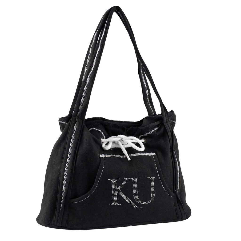 Kansas Jayhwaks Sports Noir Hoodie Purse