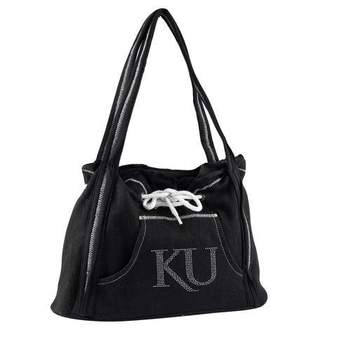 Kansas Jayhawks Sports Noir Hoodie Purse - Charm14