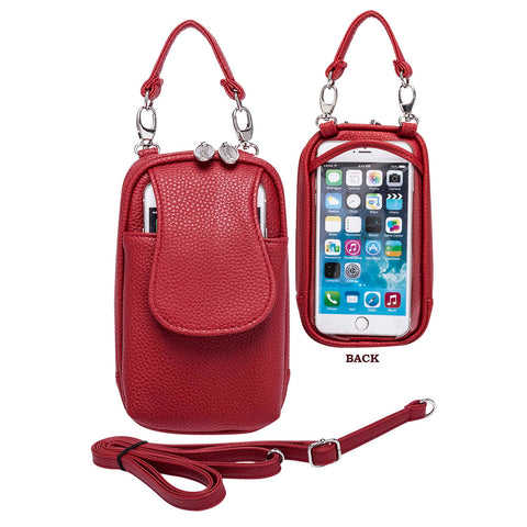 Cell Phone Purse Touch - XL- Leatherette- Many Colors