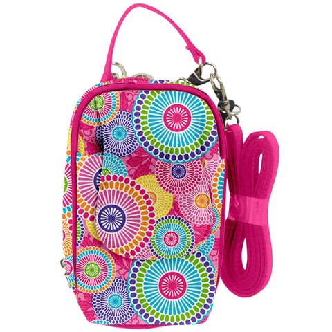 Cell Phone Purse - Kyoto Light Multi PursePlus XL with Touchscreen - Charm14