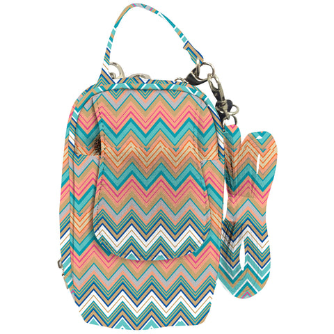 Cell Phone Purse - Zig Zag PursePlus XL with Touchscreen - Charm14