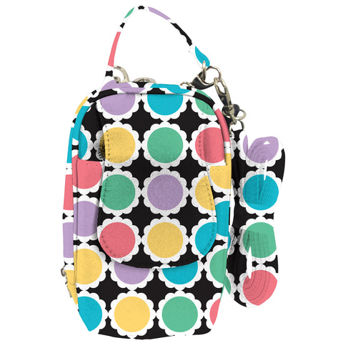 Cell Phone Purse - Dots Scallop PursePlus XL with Touchscreen - Charm14