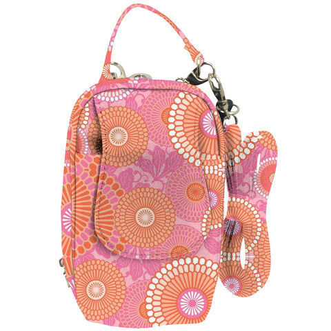 Cell Phone Purse - Kyoto Orange/Pink PursePlus XL with Touchscreen - Charm14