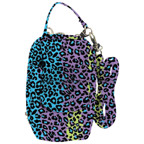 Cell Phone Purse - Leopard Multicolor PursePlus XL with Touchscreen - Charm14