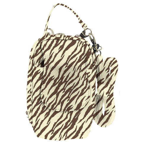 Cell Phone Purse - Zebra Natural PursePlus XL with Touchscreen - Charm14