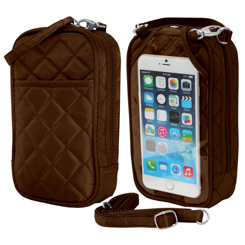 Cell Phone Purse - Chocolate PursePlus Q with Touchscreen